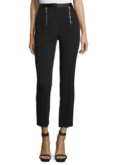 CoSTUME NATIONAL Zip-Front Slim-Leg Cropped Pants