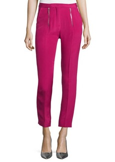 CoSTUME NATIONAL Zip-Front Slim-Leg Cropped Trousers