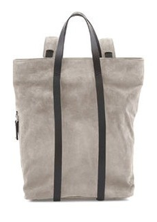 Tokyo Slouchy Suede Backpack, Gray   Tokyo Slouchy Suede Backpack, Gray
