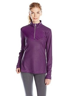 Cutter & Buck Women's Drytec Genevieve Striped Half Zip Top
