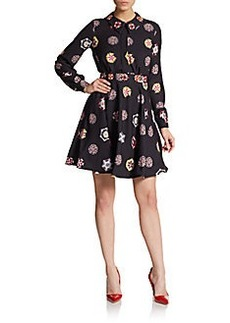 Cynthia Rowley Beaded Print Dress