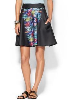 Cynthia Rowley Bonded A-Line Skirt