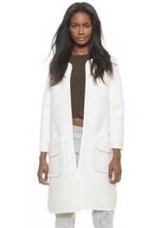 Cynthia Rowley Bonded Pique Long Jacket