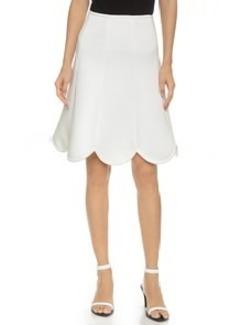 Cynthia Rowley Bonded Pique Scallop Skirt