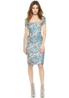 Cynthia Rowley Cap Sleeve Print Dress