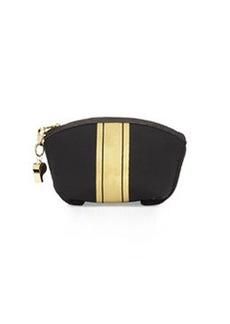 Cynthia Rowley Cody Striped Small Clutch Bag, Black/Gold