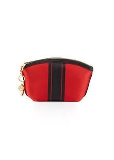 Cynthia Rowley Cody Striped Small Clutch Bag, Orange/Black