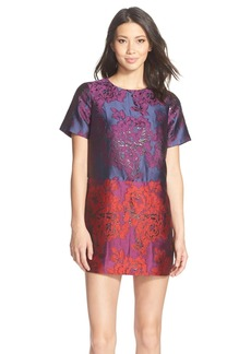 Cynthia Rowley Colorblock Floral Jacquard Shift Dress