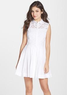 Cynthia Rowley Cotton Fit & Flare Shirtdress