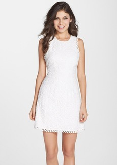 Cynthia Rowley Cotton Lace Fit & Flare Dress
