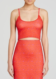 Cynthia Rowley Crop Top - Red Lace