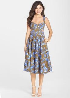Cynthia Rowley Cutout Stretch Cotton Midi Dress
