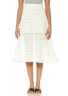 Cynthia Rowley Denim Mesh Midi Skirt