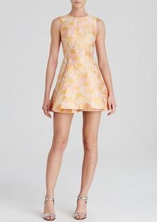 Cynthia Rowley Dress - Sleeveless Cherry Blossom Jacquard Fit and Flare
