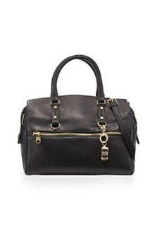 Cynthia Rowley Dylan Leather Satchel Bag, Black