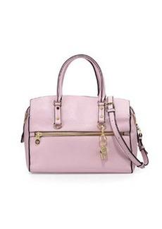 Cynthia Rowley Dylan Leather Satchel Bag, Light Pink