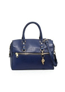 Cynthia Rowley Dylan Leather Satchel Bag, Navy