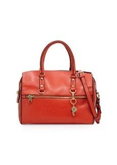 Cynthia Rowley Dylan Leather Satchel Bag, Orange