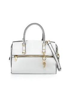 Cynthia Rowley Dylan Leather Satchel Bag, Vanilla