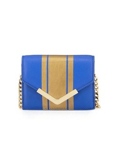 Cynthia Rowley Ella Striped Leather Mini Crossbody Bag