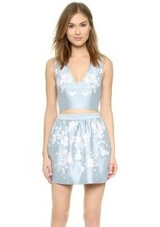 Cynthia Rowley Embroidered Crop Top