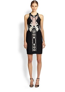 Cynthia Rowley Embroidered Racerback Dress