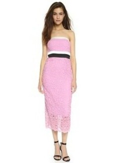 Cynthia Rowley Embroidered Strapless Dress