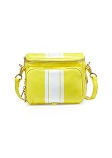 Cynthia Rowley Finn Contrast-Stripe Camera Bag, Citron