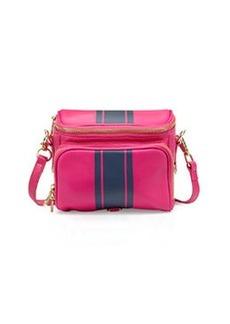 Cynthia Rowley Finn Contrast-Stripe Camera Bag, Rose