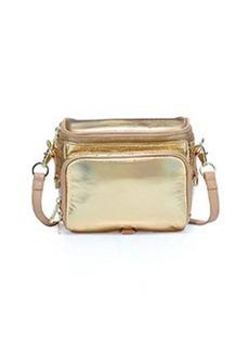 Cynthia Rowley Finn Metallic Camera Bag, Gold/Tan