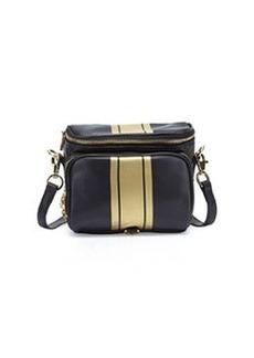 Cynthia Rowley Finn Metallic-Stripe Camera Bag, Black