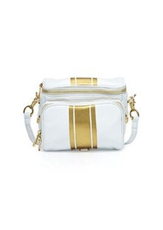 Cynthia Rowley Finn Metallic-Stripe Camera Bag, Vanilla