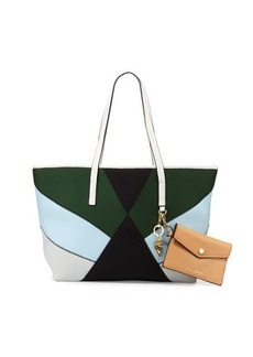 Cynthia Rowley Hayden Colorblock Scuba/Leather Tote Bag