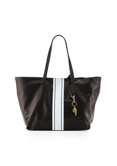 Cynthia Rowley Hayden Striped-Trim Leather Tote Bag