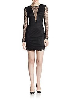 Cynthia Rowley Illusion Lace Sheath Dress