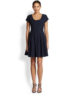Cynthia Rowley Jacquard Fit-&-Flare Dress