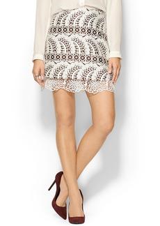 Cynthia Rowley Jacquard Mini Skirt