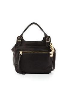 Cynthia Rowley Juno Large Leather Satchel Bag, Black