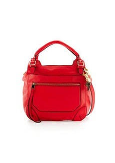 Cynthia Rowley Juno Large Leather Satchel Bag, Coral