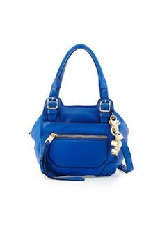 Cynthia Rowley Juno Medium Leather Satchel Bag, Cobalt