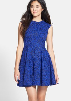 Cynthia Rowley Lace Fit & Flare Dress