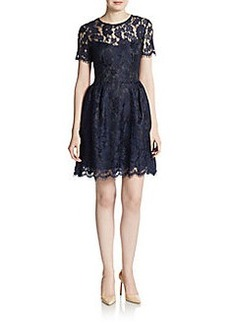 Cynthia Rowley Lace Fit-And-Flare Dress