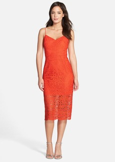 Cynthia Rowley Lace Midi Sheath Dress