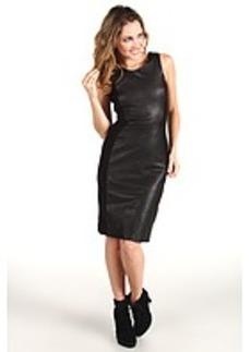Cynthia Rowley Leather Knit Tank Dress