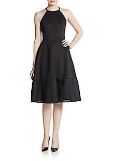 Cynthia Rowley Mesh-Panel Scuba Dress