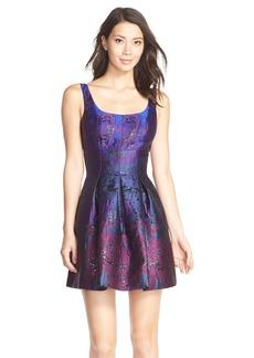 Cynthia Rowley Metallic Jacquard Fit & Flare Dress