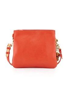 Cynthia Rowley Nixie Leather Crossbody Bag, Orange/Vachetta