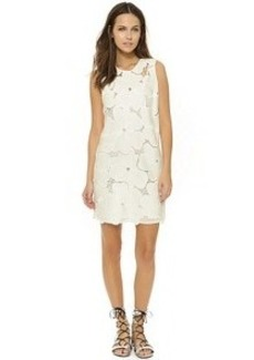 Cynthia Rowley Oversized Floral Lace Shift Dress