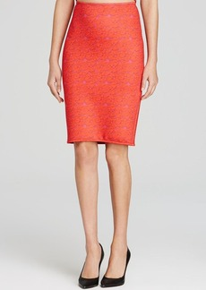 Cynthia Rowley Pencil Skirt - Red Lace