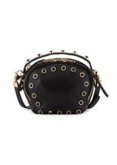 Cynthia Rowley Piper Studded Leather Crossbody Bag, Black